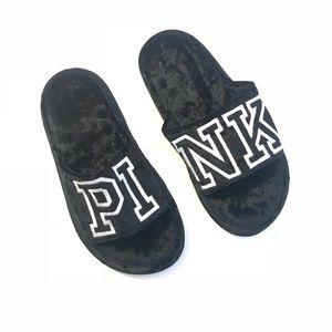Victoria's Secret PINK Black Slippers